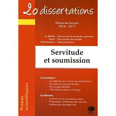 20 dissertations sur le thème de français en prépa scientifique