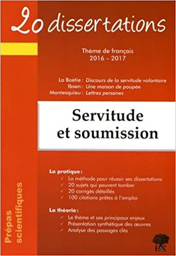 dissertation cpge exemple servitude et soumission