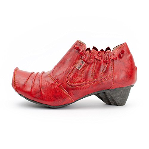 rouge femme Escarpins rouge rubis pour TMA Shoes XqTgnp