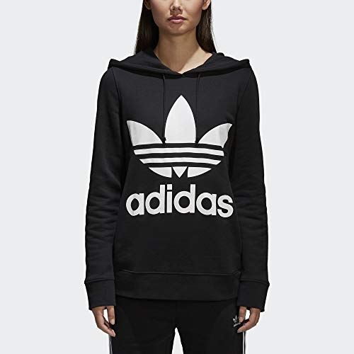 adidas Originals Women's Trefoil Hoodie, Black, Medium