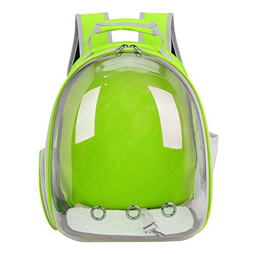 HugeHug Pet Carrier Clear Backpack 180° Panoramic View, Ventilated Safety (Chartreuse)