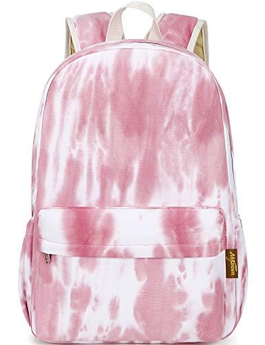 El-fmly Fashion Gradient Canvas School Shoulder Bookbag Travel Backpack (Red)