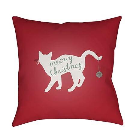 surya meowy christmas outdoor pillow - Christmas Outdoor Pillows