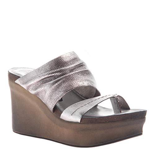 - OTBT Women's Tailgate Sandals - Silver - 7.5 M US