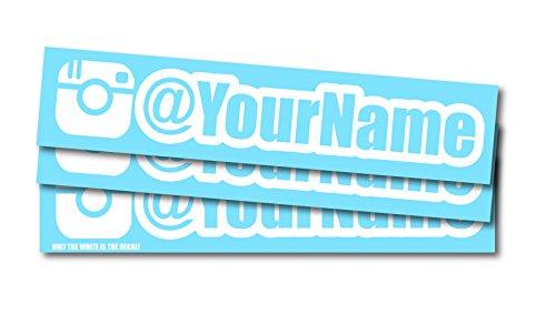 Luke Duke Decals Customized Social Media User Name 8
