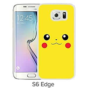 Fashionable and Durable Samsung Galaxy S6 Edge Case Design with Pokemon 24 White Cover