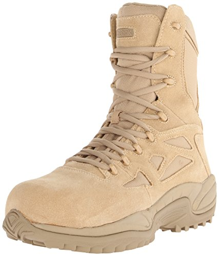 Tan Safety Steel Toe Boots - Reebok Work Men's Rapid Response RB8894 Safety Boot,Tan,11 M US