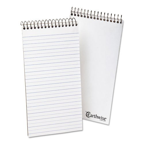 Ampad Recycled Reporters Notebook - Earthwise Ampad - Recycled Reporters Notebook, Pitman Rule, 4 x 8, White, 70 Sheets 25-281 (DMi EA