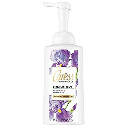 (Caress Botanicals Shower Foam, Iris Vanilla, 13.5 oz (Pack of 2))