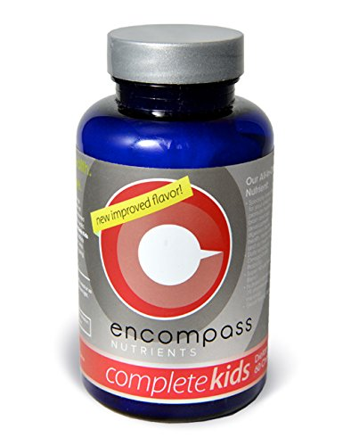 Encompass Nutrients, All-In-One Organic Chewable for Kids, 19 Vitamins and Minerals, Probiotic, Omega-3's, and our Proprietary Blend of Super Green Whole Foods, 60 Chewables (Complete Kids)