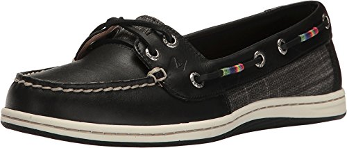 Women's Sperry, Firefish Lace up Boat Shoe BLACK 11 M (Sperry Rainbow)
