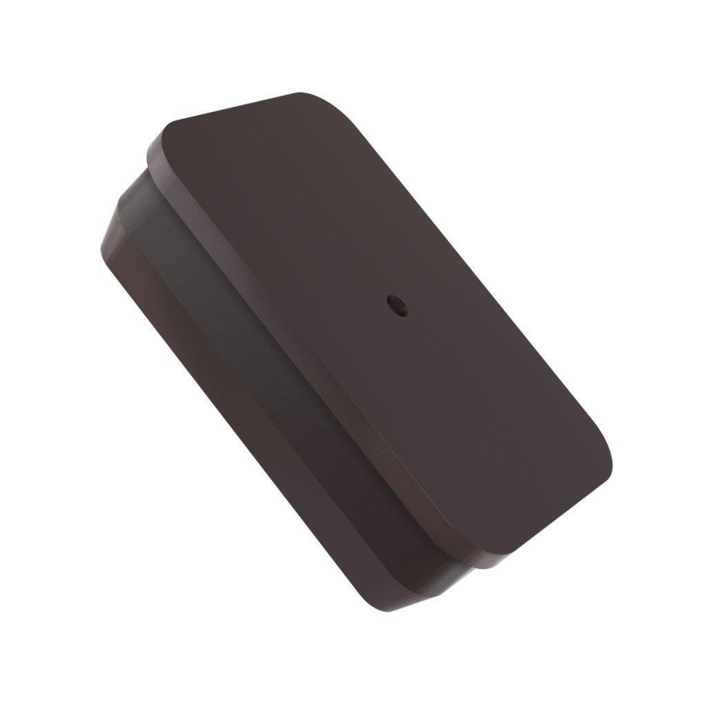 Square Polypropylene Plugs 1-1//8 Square Poly Plug Black MOCAP PSQP1.125BLK qty50