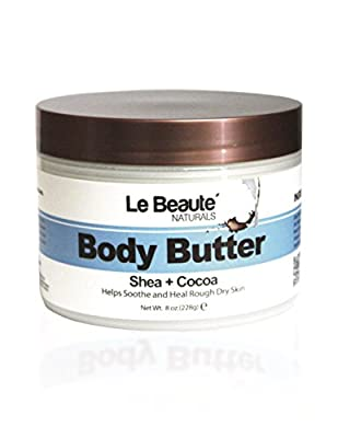 Le Beaute Body Butter | Super Rich Natural Body Cream and Moisturizer | Rich in Anti-Oxidants, Vitamins and Pure Organic Shea Butter and Cocoa Butter | Provides 24 Hour Hydration for Skin