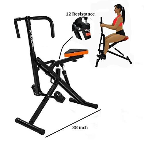 Abdominal trainer gym. Total Crunch AB Crunch Workout Fitness Exercise Muscle Cardio Trainer Fitness Horse Riding w Monitor
