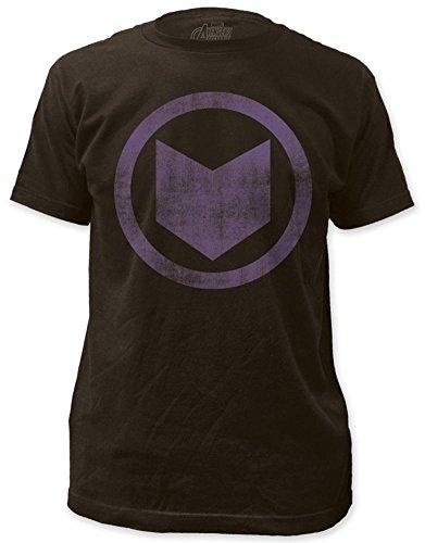 Hawkeye Men's Distressed Icon Slim Fit T-Shirt Large Coal