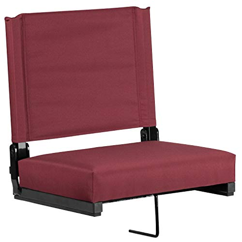 Flash Furniture Game Day Seats Stadium Chair by Flash with Ultra-Padded Seat, Maroon