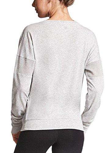 Fihapyli Women Dolman Style Long Sleeve Soft Rayon Top Tee Stretchy Loose Casual Yoga Top Running Gym Sports Blouse with Thumb Hole (Gray, XXL) by Fihapyli (Image #1)