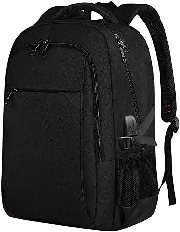 BAJIMI ハイキングバックパック、学生のバックパック、ノートパソコンのバックパック、女性と男性のためのビジネスアンチセフト旅行コンピュータバックパックバッグ、USBと学校バックパック・カレッジでは、ポートは16インチのノートブック、ブラックに適合充電します