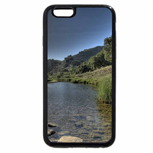 iPhone 6S / iPhone 6 Case (Black) high sun over lovely river