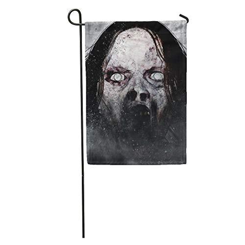 Semtomn Garden Flag Movie 3D of Scary Ghost