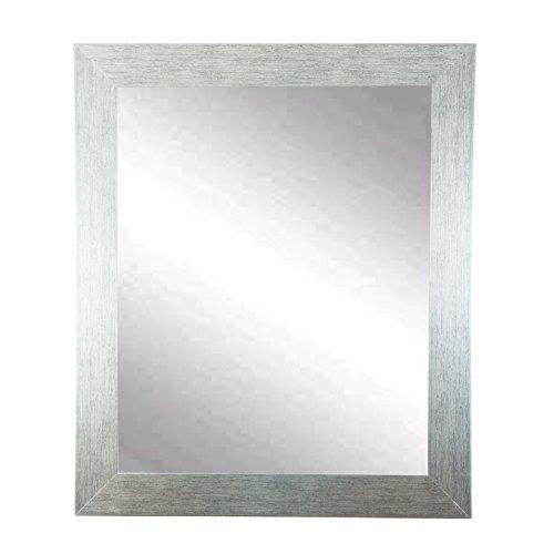BrandtWorks Stainless Grain Wall Mirror, 32