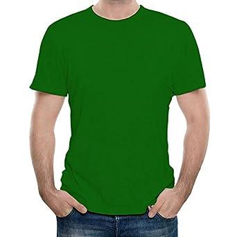 d931b3889 Plain Green T-Shirt  Premium Cotton Regular Wear   Green   44