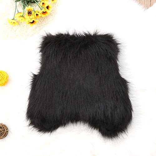 18a3cc5c3 remeo suit Infant Baby Girl Soft Faux Fur Vest Coat Jacket Outwear Toddler  Baby Warm Winter Waistcoat (Black, 0-6Months)