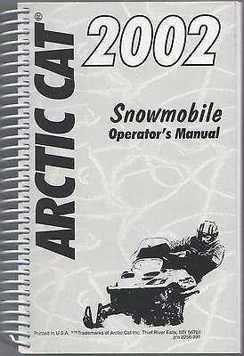 2002 Arctic Cat Snowmobile Operators Manual All Models P/N 2256-397 (900) - Operators Manual Cat
