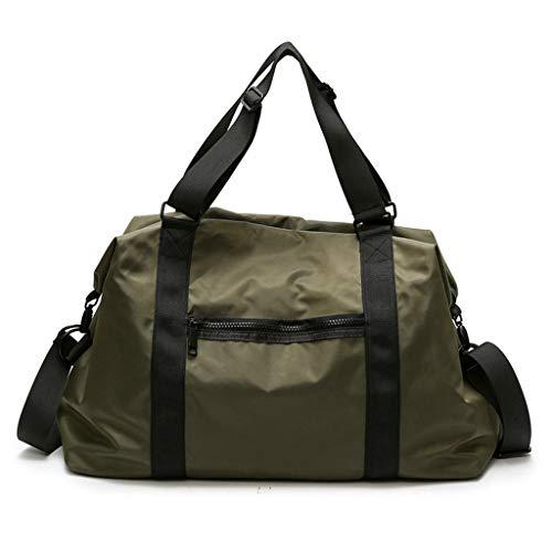 Borsa da viaggio borsa di tela impermeabile oxford borsa borsa messenger bag lady bag L codice B216 verde militare