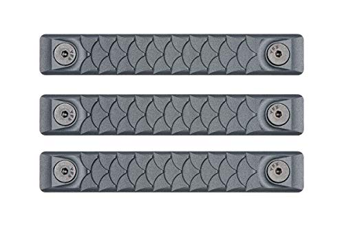 RailScales High Temp Polymer HTP Scales - Multiple Options (KeyMod 3 Pack, Dragon Sniper Grey) (Vertical Keyhole Cover)