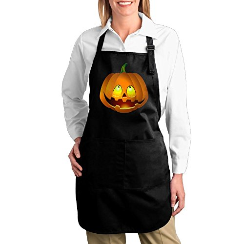 Pumpkin Face Halloween Unisex Adjustable Gift Idea Funny BBQ Home Kitchen Cooking Pocket Apron With 2 Pockets - Adjustable Neck Strap (Halloween Candy Png)