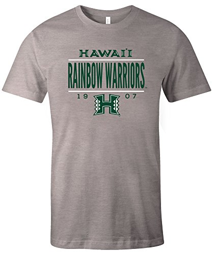 NCAA Hawaii Rainbow Warriors Tradition Short Sleeve Tri-Blend T-Shirt, Green,X-Large (Green Warriors Hawaii Green)