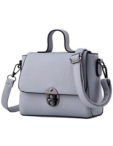 Menschwear Handbag Bolsos De Moda Hombro Diagonal Paquete Bolso Ladies Negro Gris