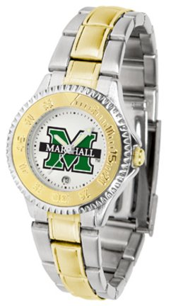 (SunTime Marshall Thundering Herd Competitor Ladies Watch with Two-Tone Band)