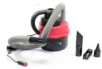 12V Wet Dry Vac Vacuum Cleaner Inflator Lightweight Turbo Hand Held for Car or Shop