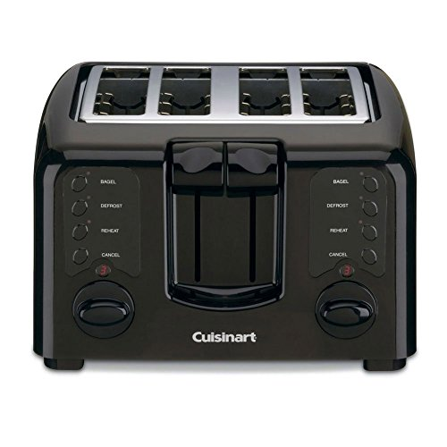 Cuisinart CPT-140BK Electronic Cool Touch 4 Slice Toaster, Black