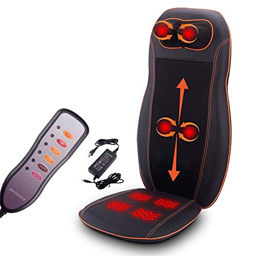 Kendal Shiatsu Massage Seat Cushion with Heat and 3 Massage Modes,Back and Neck Massager for Home Office Seat use CM8809