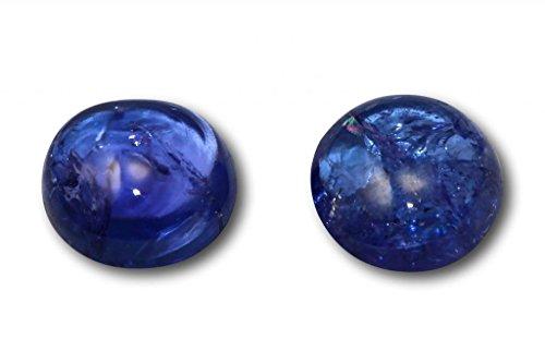 Tanzanite véritable en paire 4,68 carats 8,1 x 3,9 & 8,0 x 4,2 mm