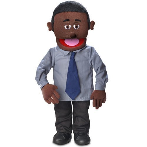 30'' Calvin, Black Dad / Businessman, Professional Performance Puppet with Removable Legs, Full or Half Body