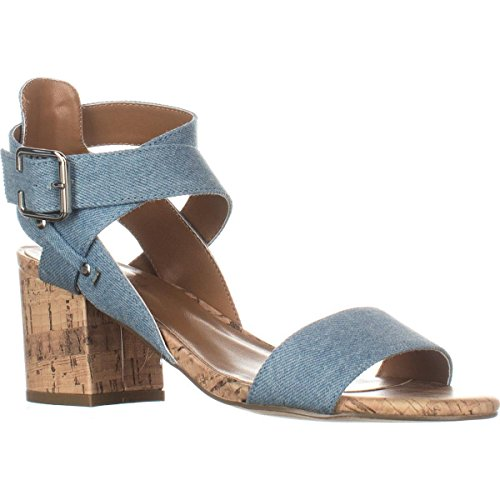 Indigo, Sandales Pour Femme/US Frauen Light Blue Fabric