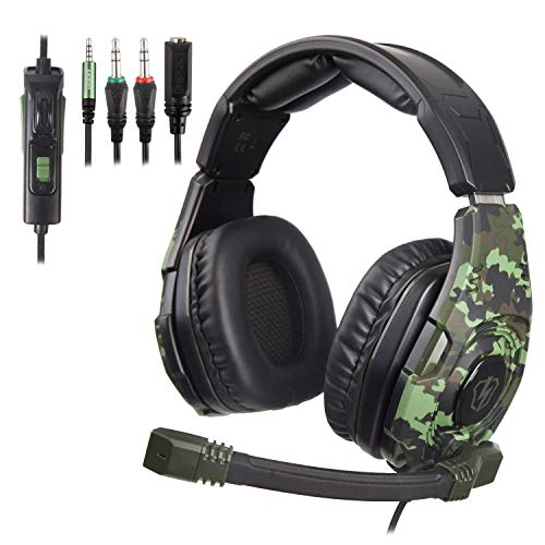 Newest Gaming Headset for Xbox one PS4-3.5mm Wired Over-Head Stereo Gaming Headset Headphone with Mic Microphone, Volume Control for PS4 PC Tablet Laptop Smartphone Xbox One