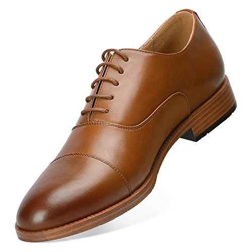 Men's Dress Shoes Formal Leather Oxfords Lace up Brown - Leather Elegant Shoes Brown Dress