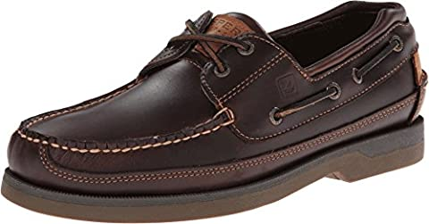 Sperry Top-Sider Men's Mako 2-Eye Canoe Moc Lace-Up, Amaretto 8 M US - 2 Leather Casual Shoe