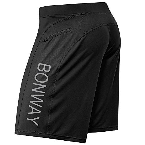 BONWAY Men's Shorts Casual Tennis Gym Shorts Athletic,Running,Coaching with Zipper Pockets Shorts – DiZiSports Store