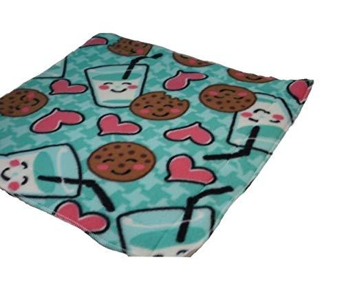 Waterproof pet mat- Green milk and cookies 20x20 inches (Cookie Diaper)