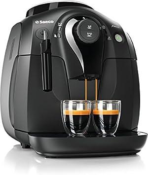 Saeco Xsmall HD864547 Independiente Totalmente automática Máquina espresso 1L Negro Cafetera (Independiente, Máquina espresso, Negro, Taza, De