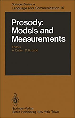 Book Prosody: Models and Measurements (Springer Series in Language and Communication)