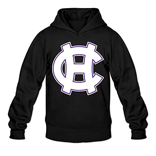 Ultimate College Sports Fan (CYANY College Of The Holy Cross Crusaders Iggy The Crusader Women's New Style Hoodies Hooded Sweatshirt LBlack)