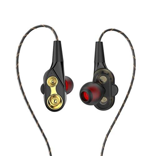 Livoty HIFI In-Ear Super Bass Stereo Earphone Earbuds Headphone Sports Headset With Mic & Volume Control (Black)