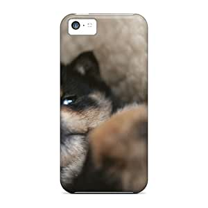 Ultra Slim Fit Hard DavidKearns1 Case Cover Specially Made For Iphone 5c- Funny Animals Dog